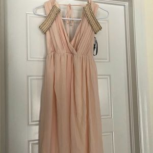 Top Shop Pink Midi Dress